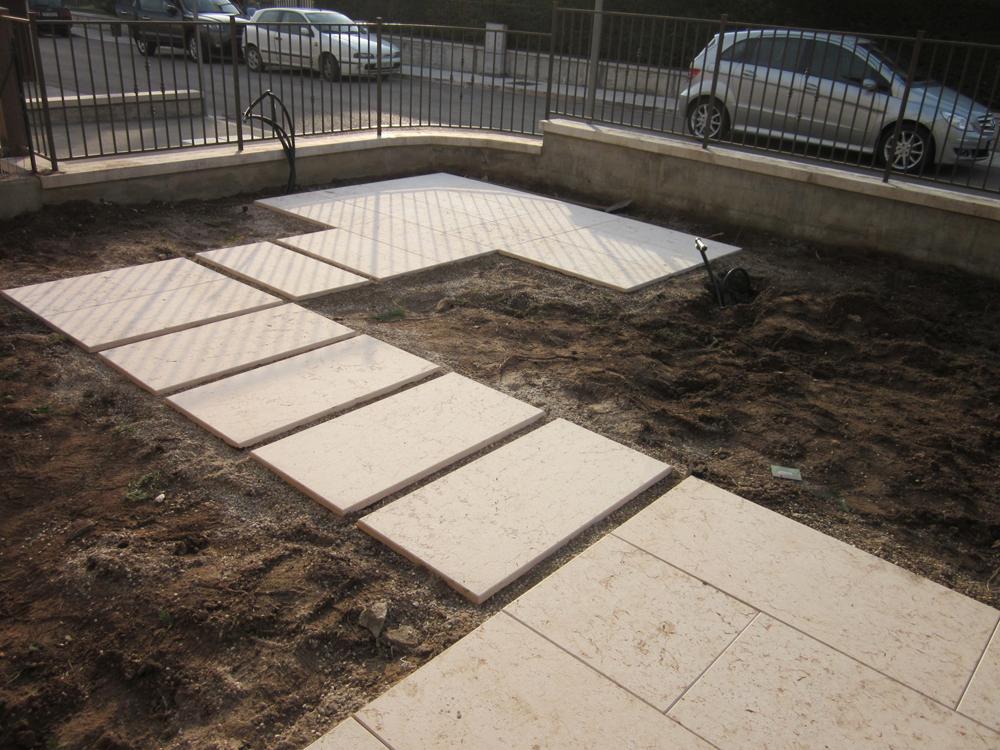 Pavimentare giardino a secco